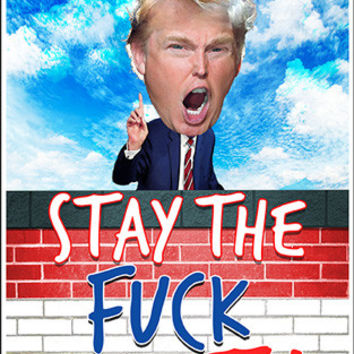 "TRUMP'S WALL ""Stay The F*** OUT"" #2 -Bumper Sticker"