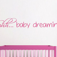 Wall Decals Vinyl Decal Sticker Home Art Mural Interior Design Quote Shh Baby Dreaming Kids Nursery Baby Room Boy Girl Bedding Decor KT113 - Edit Listing - Etsy