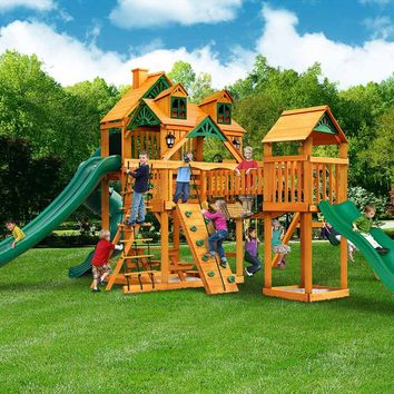Gorilla Playsets Treasure Trove II Malibu Wooden Swing Set