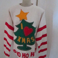Grinch Ugly Christmas Sweater Will make Small Medium  Large to Xlarge Ugly Grinch Sweater Priority Shipping Anywhere in the WORLD
