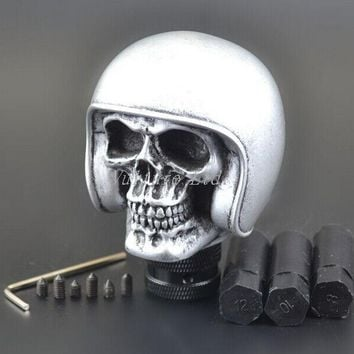 Silver Skull Universal Car Truck Manual Gear Stick Shift Lever Knob Shifter New