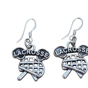 Girls Lacrosse Earrings Gift For Lacrosse Players