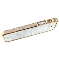 Diamond Crystal Bling Aluminum Metal Bumper Hard Rose Gold Case Cover For iPhone 5