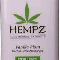 Hempz Herbal Body Moisturizer, Light Purple, Vanilla Plum, 17 Fluid Ounce