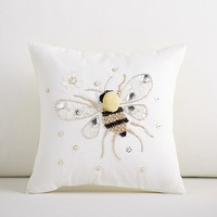 Daisy Bee-dazzled Pillow