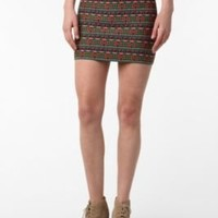 Pleasure Doing Business Aztec Banded Mini Skirt