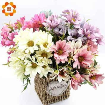 One Bouquet Artificial Flowers European Silk Daisy Flowers