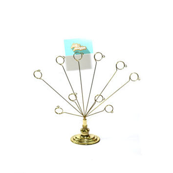 Brass Picture Tree Picture Stand Wedding Picture Tree Picture Holder Table Number Holder Wedding Table Numbers