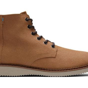TOMS - Men's Porter Distressed Tan Waxy Suede Boots