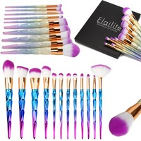 Professional Unicorn Diamond Mermaid Makeup Brush Set 7/10/12pcs High Quality Foundation Blusher Eyeshadow Makeup Tools Kit