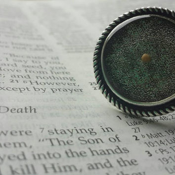 Mustard seed ring - faith ring - antique silver - christian ring - faith of a mustard seed jewelry - graduation - college gift - going away
