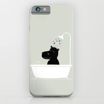 The Happy Shower iPhone & iPod Case by GretaZserbo