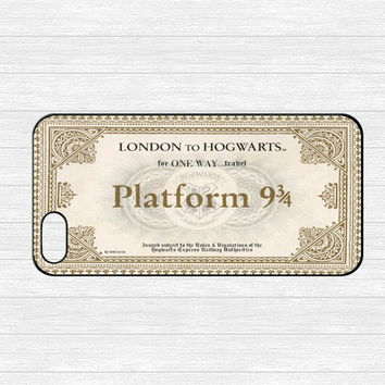 Harry Potter Hogwarts Express train ticket hard plastic skin case for iphone 4/4s/5/5s/5c/6/6s/6plus/6s plus hwd