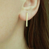 Mini Bar Studs / Simple Bar Posts / Gold Stick Studs / Gold Bar Earrings / Simple Minimal Earring / Minimalistic Jewelry / E502