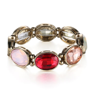 New Arrival Shiny Awesome Great Deal Gift Hot Sale Crystal Gemstone Stretch Stylish Fashion Ladies Accessory Bracelet [6047541889]