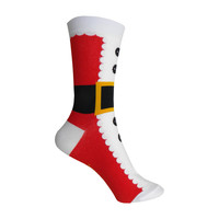 Santa Suit Crew Socks in Red and White