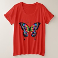 Dazzling Butterfly Art Plus Size T-Shirt