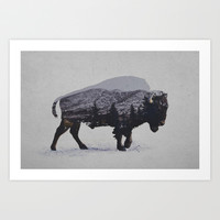 The American Bison Art Print by Davies Babies