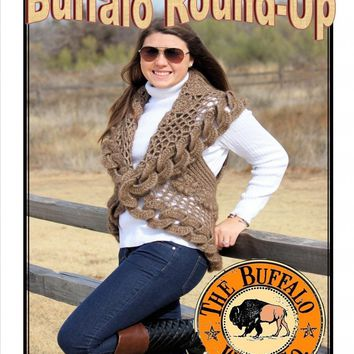 Buffalo Round Up Shrug Kit Aran weight - PDF pattern