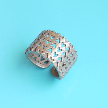 Inverted Hearts Ring in Stainless Steel modern by ArchetypeZ