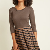 Quebec and Call Knit Dress in Cocoa