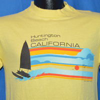 70s Huntington Beach Rainbow Sunset t-shirt Small