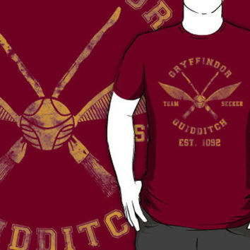 """Abercrombie & Quidditch Harry Potter Shirt"" T-Shirt Design by spacemonkeydr 