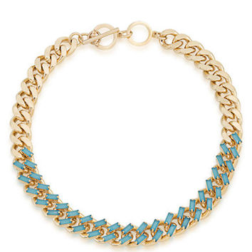 Carolee Island Daiquiri Gold-Tone and Bead Necklace