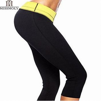Hot Body Shaper Neoprene Sauna Shapers Sweat Women pants Slim Fitness Super Stretch Panties waist trainer Cincher Top Fashion