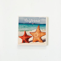 California Starfish Coasters / California Decor / California Coasters / Dorm decor /aloha coasters / aloha gifts / vintage