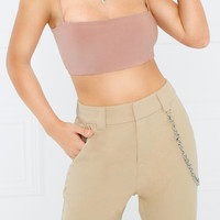 Double Dare Crop Top - Mauve