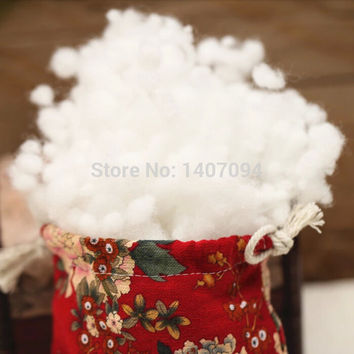 Wool Roving Fieltro High Quality Cotton Pillow Filled Fiberfill Pp Stuffing Doll Diy Non-woven Material Filler Toys 50g pieces