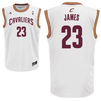 Men's Cleveland Cavaliers LeBron James adidas White Home Replica Jersey