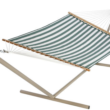 Green & White Quilted Hammock by Castaway