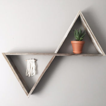 XL Reclaimed Wood Double Triangle