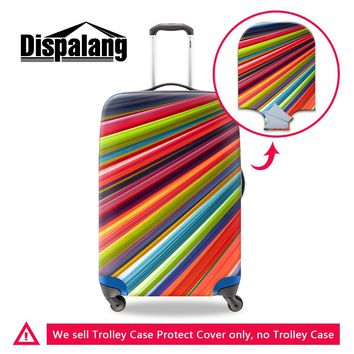 Dispalang 3D colorful rainbow print travel accessories for 18-30 inch travel suitcase elastic waterproof bagage protector covers