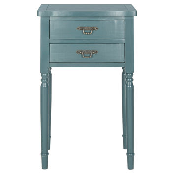 Monroe Side Table, Teal, Nightstands