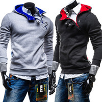 Trendy Fashion Men Slim Fit Pullover Hoodie