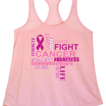 Women's Fight Cancer Graphic Print Polyester Tank Tops for Regular and PLUS - Small ~ 3XL