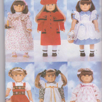 "Pattern for 6 complete American Girl/18"" doll clothes including Dorothy costume, Bavarian girl costume Butterick 4699 CUT and COMPLETE"