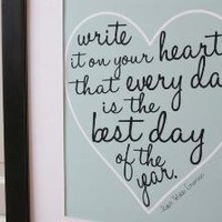 Write it on your heart Ralph Waldo Emerson by LoveInLetters