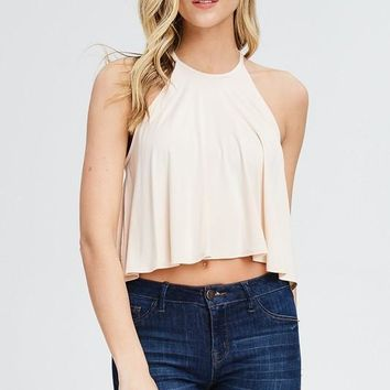 Halter Cropped Tank (multiple colors available)