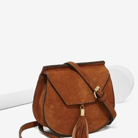 Nasty Gal x Nila Anthony Wild West Suede Bag