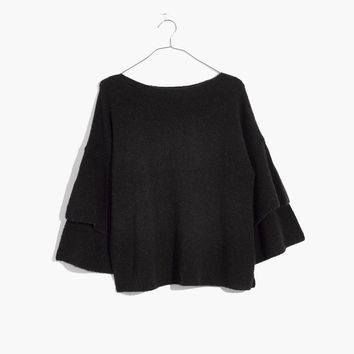 Tier-Sleeve Pullover Sweater : shopmadewell pullovers | Madewell