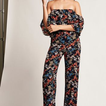 Floral Off-the-Shoulder Jumpsuit