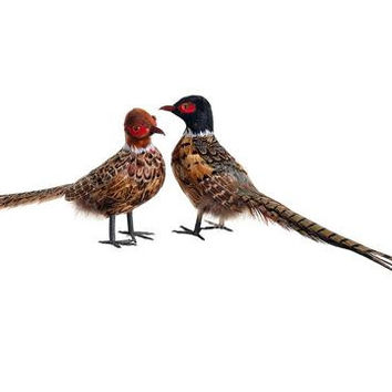 2 Christmas Ornaments - Pheasants