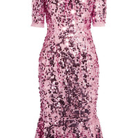 Dolce & Gabbana - Sequined tulle midi dress
