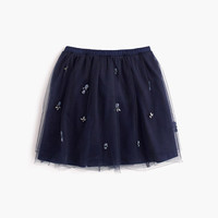 crewcuts Girls Jeweled Cluster Tulle Skirt