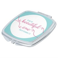 Song of Solomon Bible Verse White, Pink & Teal