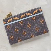 Miss Albright Friendly Foxes Pouch in Navy Size: One Size Clutches